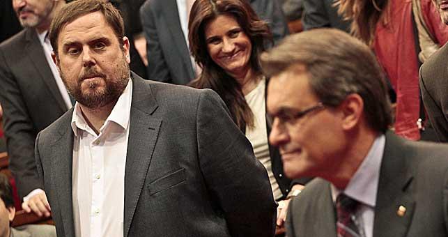 Mas y Junqueras pierden 11 escaños tras anunciar su 'lista unitaria'