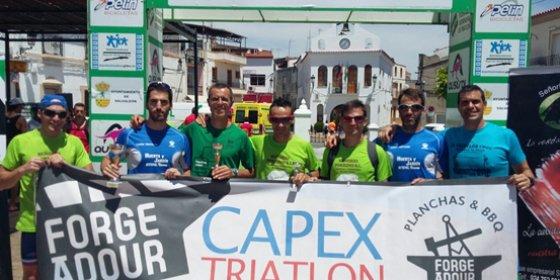 Tercer puesto del Capex en el V Triatlón de Salvaleón