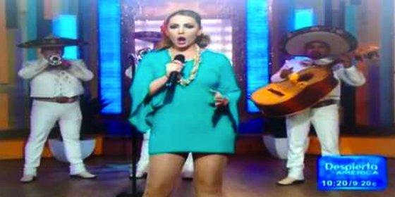 [Vídeo] De esta forma tan bochornosa se le cae la compresa a la cantante
