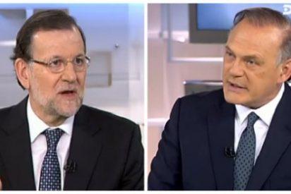 Piqueras incomoda a Rajoy con su pregunta trampa sobre Pedro Sánchez