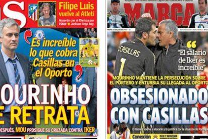 """Marca y AS vuelven a """"obsesionarse"""" con Mourinho y relegan la muerte de los dos pilotos españoles a un segundo plano"""