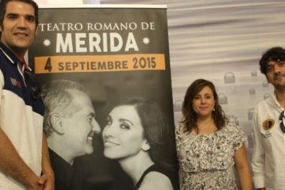 Ana Belén y Víctor Manuel, en el Teatro Romano de Mérida