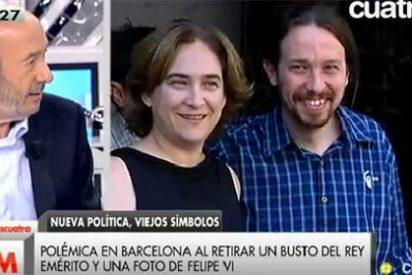 Rubalcaba se desmarca de la 'podemitis' del PSOE y ataca a Ada Colau y Pablo Iglesias