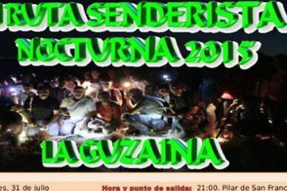 """I Ruta Senderista Nocturna 2015 """"La Guzaina"""" en Hornachos"""