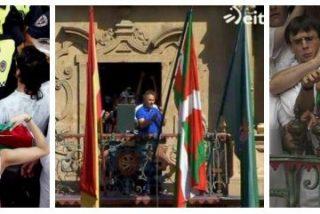 Bildu coloca la ikurriña en el Ayuntamiento de Pamplona para los Sanfermines