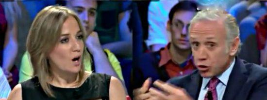 Eduardo Inda acusa a Tania Sánchez de querer meterle en la 'checa' y la novia de Pablo Iglesias se pone de los nervios
