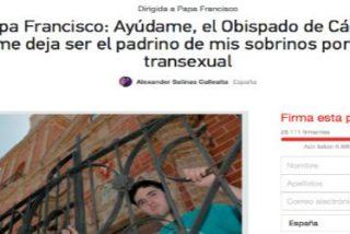 El joven transexual de Cádiz pide ayuda al Papa para poder ser padrino de bautizo de sus sobrinos