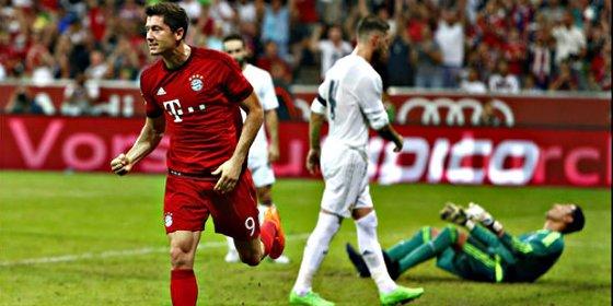 El Real Madrid termina 'tieso' y encaja ante el Bayern su primera derrota de pretemporadta