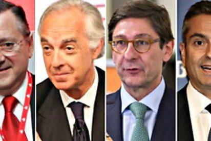 Los escandalosos, bestiales y dorados despidos de los banqueros españoles