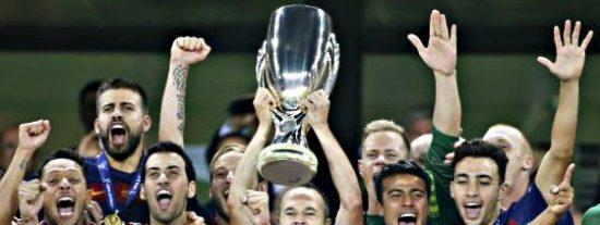Pedro, que tiene un pie fuera, da la Supercopa de Europa al Barcelona en el minuto 115