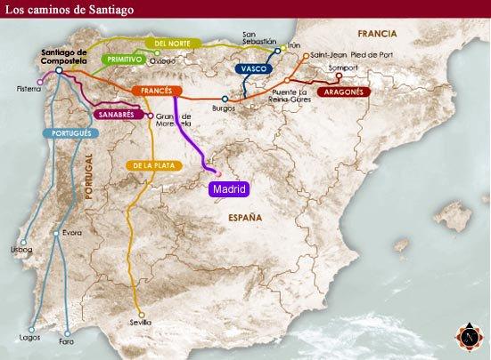 El Camino de Santiago atrapa a los madrileños