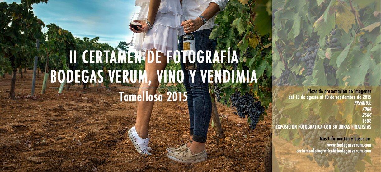"""Convocada la II edición del certamen fotográfico nacional """"Bodegas Verum, vino y vendimia"""" incrementando la dotación en premios"""