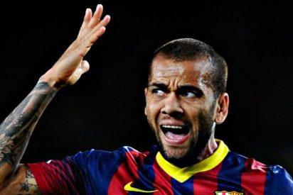 Barça: Dani Alves sufre una lesión en el aductor derecho