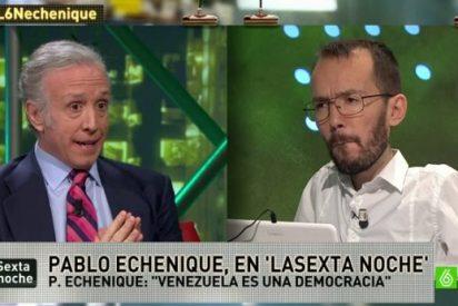El 'recadito' irónico en Twitter de Pablo Echenique a Eduardo Inda que calentó la discusión entre el podemita y el periodista en el plató de laSexta Noche