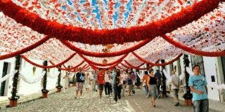 Fernández Vara preside la inauguración de las Festas do Povo en la localidad portuguesa de Campo Maior