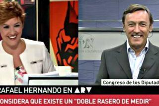 Los 'zascas' y 'pullitas' de la inocente Cristina Pardo al popular Hernando y al socialista Hernando