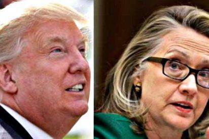 La demócrata Hillary Clinton baja en las encuestas y el republicano Donald Trump sigue subiendo