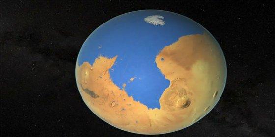 El planeta Marte tuvo un lago potencialmente habitable