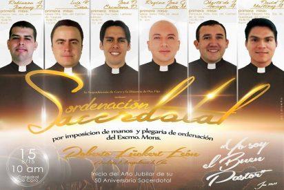 Ordenación de 6 nuevos sacerdotes en la archidiócesis de Coro