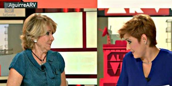 Esperanza Aguirre aguanta el chorreo de Cristina Pardo en su entrevista más cañera