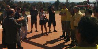 Santos Jorna agradece el trabajo a los miembros del Infoex en el incendio de Sierra de Gata