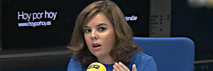 Pepa Bueno la pifia en la Cadena SER intentando pillar a Soraya Sáenz de Santamaría