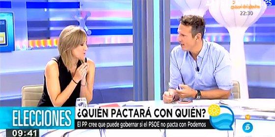 ¡Qué mal disimulan Tania Sánchez y Joaquín Prat su filiación podemita!
