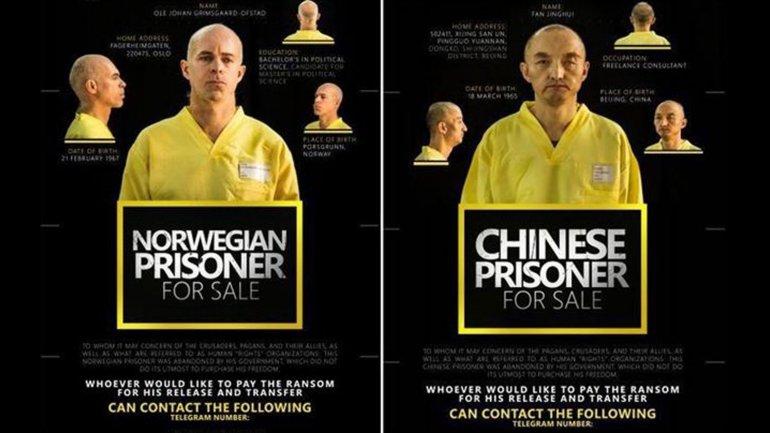 """El Estado Islámico pone """"a la venta"""" en una revista a un rehén chino y otro noruego"""