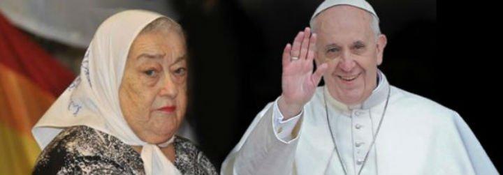 """Hebe de Bonafini, a Bergoglio: """"¿Dónde estaba Dios cuando aviones cargados arrojaban vivos a nuestros hijos al mar?"""""""