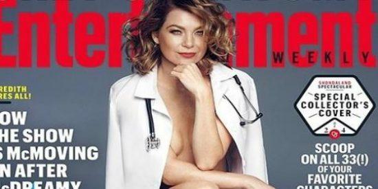 Ellen Pompeo, de 'Anatomía de Grey', desnuda para 'Entertainment Weekly'