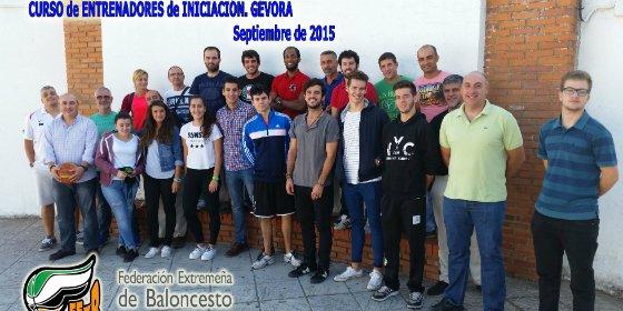 Celebrado en Gévora el Curso de Entrenadores de Baloncesto de Nivel 0
