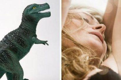 ¿Por qué tenía la modosa y fiel esposa un dinosaurio dentro de su vagina?