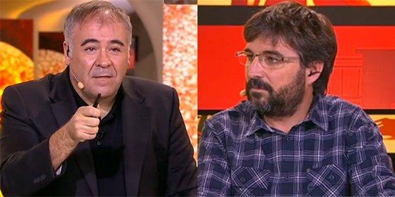 Jordi Évole hace de 'follonero' en su casa y recrimina a García Ferreras la falta de un independentista en la tertulia