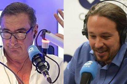 """Herrera echa por tierra las escabullidas de Iglesias: """"No le cambio el título como El País, pero pongo mi titular porque no me contesta"""""""