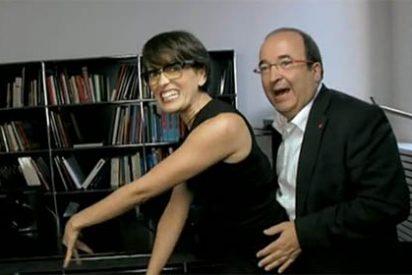 El personaje bailongo 'se come' al político Iceta, que lo da todo también en televisión