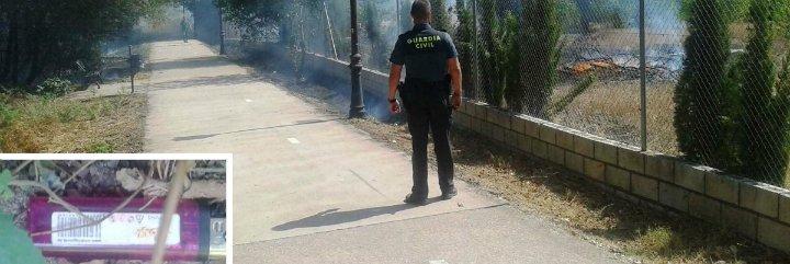 """Detenido """"in situ"""" el presunto autor de varios incendios forestales en la localidad de Plasencia"""