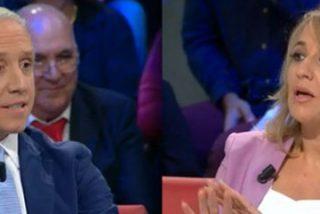 """Eduardo Inda le pinta la cara a la podemita Tania Sánchez: """"Tú y tu padre le disteis 1'4 millones a tu hermano, tracatraca"""""""