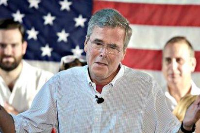Jeb Bush se mofa de Donald Trump y vuelve a hablar en español en un discurso en Miami