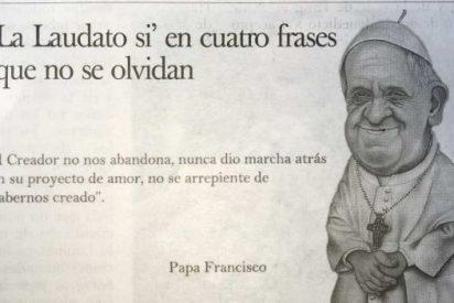 Diario del Vaticano publica por primera vez una caricatura del Papa