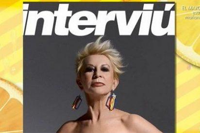 Todas las bestialidades y las fotos más cutres del 'Interviú' independentista de Karmele Marchante