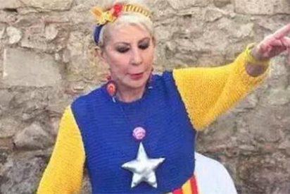 Los famosos que han ido a hacerse selfies a la 'supermarcha' de la Diada: Piqué, Laporta, Karmele...