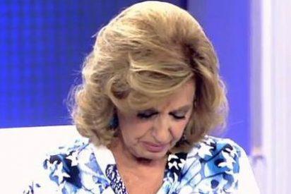 El 'extraño' llanto de Mª Teresa Campos ante su hija Terelu