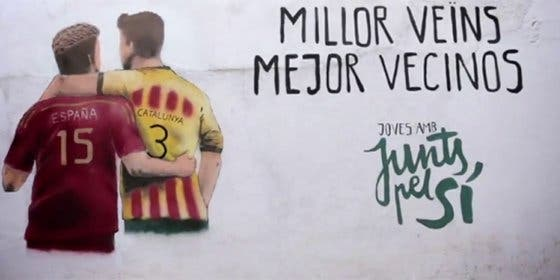 Los separatistas de 'Junts Pel Sí' utilizan el conflicto entre Ramos y Piqué para hacer campaña