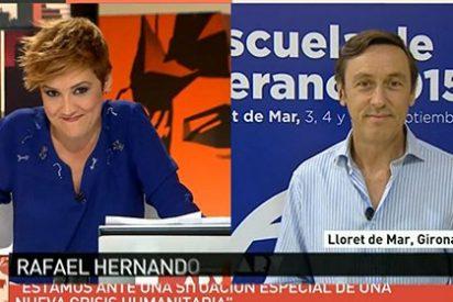 """Rafa Hernando se cansa de la impertinencia de Pardo: """"¡Siempre me pregunta lo mismo!"""""""