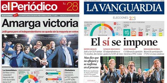 El que no se consuela es porque no quiere: los diarios catalanes venden lo que no fue