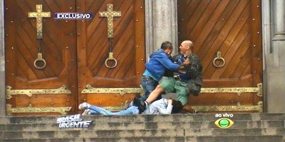 El asesinato del mendigo que salva a una rehén en la catedral de São Paulo