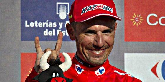 Purito se enfunda el maillot rojo de líder de la Vuelta a España por un segundo