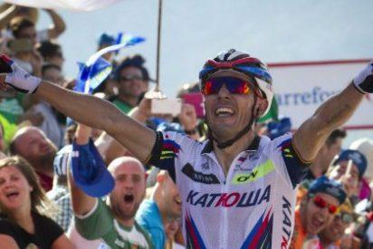 'Purito Rodríguez conquista Sotres y se pone a un segundo de Aru, que sigue líder de la Vuelta a España
