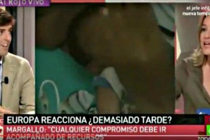 La podemita Tania Sánchez, novia de Pablo Iglesias, se descoca y enseña 'canalillo'