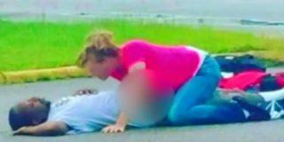 [Vídeo] La ninfómana que tiene sexo con un hombre inconsciente en la calle
